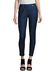 Michael Michael Kors Petite Cotton Stretch Leggings Blue Indigo