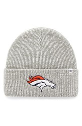 47 Brand Men's Nfl Brainfreeze Knit Beanie Grey Broncos
