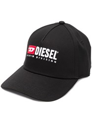Diesel Embroidered Logo Baseball Cap Black