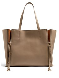 Chloe Milo Large Leather Tote Grey