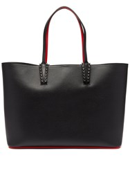 Christian Louboutin Cabata Spike Embellished Leather Tote Black