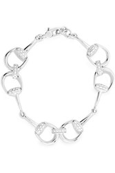 Gucci 18 Karat White Gold Diamond Horsebit Bracelet