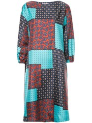 Astraet Patch Work Flared Dress Multicolour