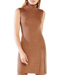 Bcbgmaxazria Ameuya Wool Turtleneck Tunic Toffee