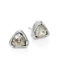 Uno De 50 Twinkle Twinkle Litter Star Swarovski Stud Earrings Silver