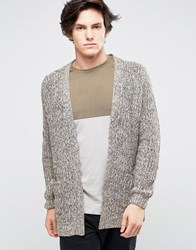 New Look Chunky Knit Cardigan In Brown Mid Brown