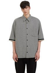 Aganovich Oversized Houndstooth Shirt Black