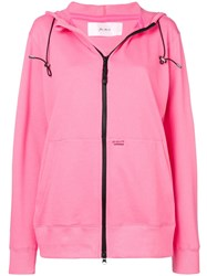 Julien David Zip Front Hoodie Pink And Purple