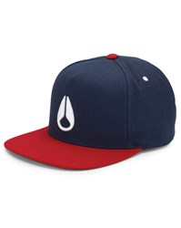 Nixon Navy Simon Snapback Red Visor Cap Blue