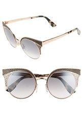 Jimmy Choo Women's 'Ora' 51Mm Cat Eye Sunglasses Gold Copper