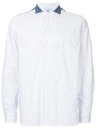 Junya Watanabe Comme Des Garcons Man Patterned Patch Detail Shirt White