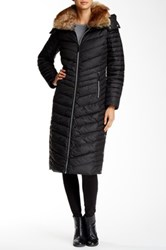 Andrew Marc New York Kate Faux Fur Trimmed Quilted Jacket Black
