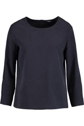 Raoul Bonnie Washed Silk Top Midnight Blue