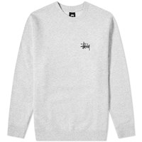 Stussy Basic Crew Sweat Grey