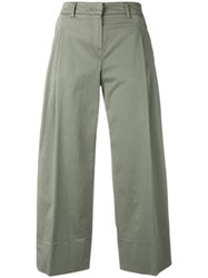 Fay Cropped Pants Green