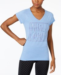Ideology Inhale Exhale Graphic T Shirt Only At Macy's Yacht Blue