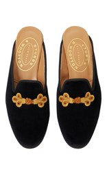 Stubbs And Wootton Fluting Mule Black
