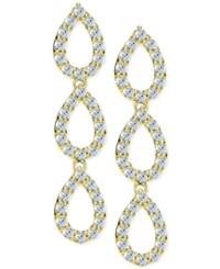 Giani Bernini Cubic Zirconia Pave Triple Drop Earrings In 18K Gold Plated Sterling Silver Only At Macy's