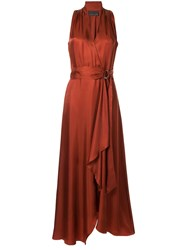 Ginger And Smart Sonorous Wrap Dress Brown