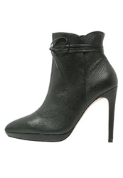 Reiss Orion High Heeled Ankle Boots Black