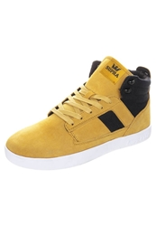 Supra Bandit Hightop Trainers Mustard Black White Yellow