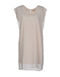 Bonsui Short Dresses Ivory