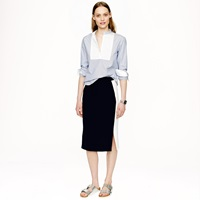 J.Crew Soft Pencil Skirt In Colorblock
