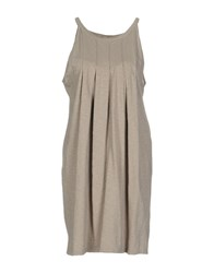Private Lives Short Dresses Beige