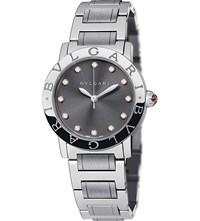Bulgari Bvlgari Bvlgari Stainless Steel And Diamond Watch