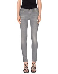 Camouflage Ar And J. Denim Denim Trousers Women Grey