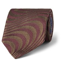 Dries Van Noten 6.5Cm Silk Jacquard Tie Burgundy