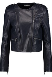 Rebecca Minkoff Natasha Perforated Leather Jacket Indigo