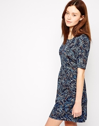 Vero Moda 3 4 Sleeve Printed Skater Dress Blackirismulti