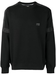 Class Roberto Cavalli Embroidered Logo Sweatshirt Black