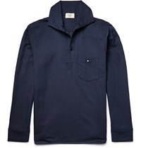 Everest Isles Woven Polo Shirt Navy