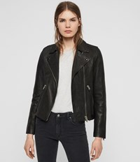 Allsaints Dalby Leather Biker Jacket Black
