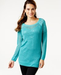 Thalia Sodi Embellished Layered Look Sweater Only At Macy's Baltic