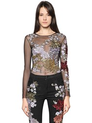 Amen Couture Embellished Tulle Bodysuit