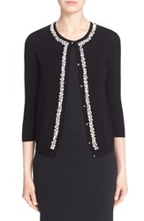 Women's St. John Collection Hand Embellished Wool And Cashmere Cardigan