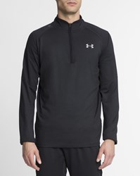 Under Armour Black Stand Up Collar Zip Up No Breaks Jumper
