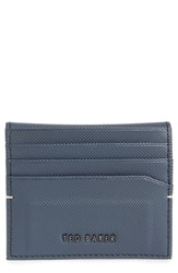 Ted Baker London Micro Perforated Leather Bifold Card Holder Blue Navy