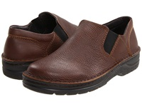 Naot Footwear Eiger Textured Chocolate Leather Men's Slip On Shoes Brown