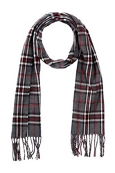 Amicale Plaid Scarf Gray