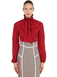 Stella Jean Tech Nylon Shirt With Bow Red