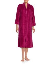 Miss Elaine Textured Zip Front Robe