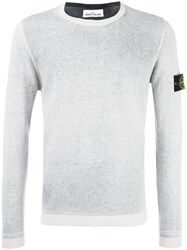 Stone Island Crew Neck Jumper White