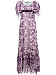 Maurizio Pecoraro Printed Long Dress Pink Purple