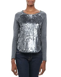 Milly Sequin Front Baseball Tee Women's