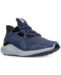 Adidas Men's Alpha Bounce Em Running Sneakers From Finish Line Collegiate Navy Utility B