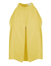 Miss Selfridge Draped Halter Top Yellow